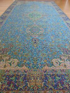 Persian Rug Design Woven Art Silk Termeh Tapestry Runner Tablecloth Wall Hanging