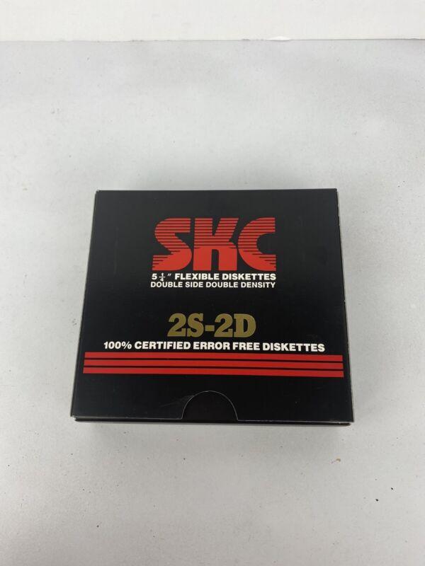 "10 Vintage SKC 5 1/4"" 5.25"" Flexible Disks Diskettes Floppy 2S-HD"