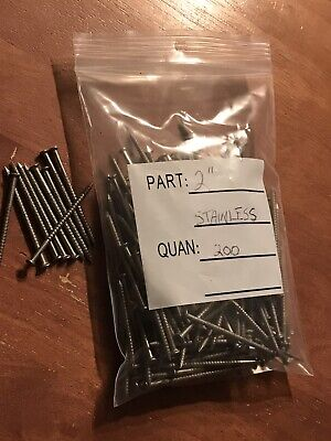 2 Annular Ring Shank Solid Stainless Steel Split Proof Siding Nails 200 Pcs