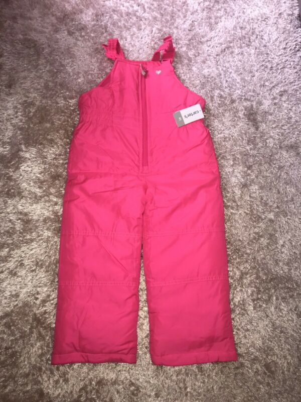 Carters Hot Pink Girls Snow Bibs Size 4T