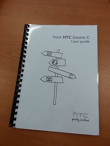 HTC DESIRE C FULL PRINTED USER MANUAL GUIDE 158 PAGES A5