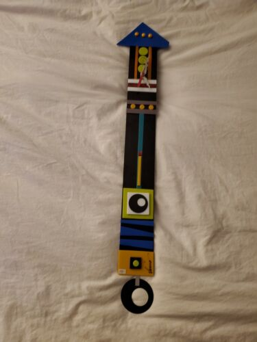 Memphis Design Postmodern Pendulum Clock 80's Signed working