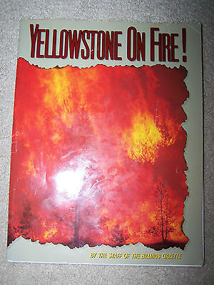 Yellowstone On Fire  Billings Gazette  1991  Natural Disaster  National Park