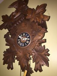 Vintage Hubert Herr Black Forest Cuckoo Clock Made in Germany Bird House