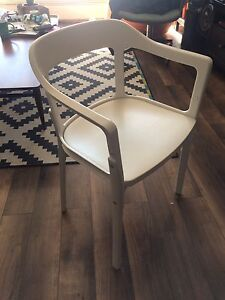 Magis Steelwood chair in white - made in italy