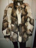 Pelliccia Coat Mantel Fur Pelz White Coyote Kojote Volpe Fuchs Fox Vintage Rare - fuchs - ebay.it