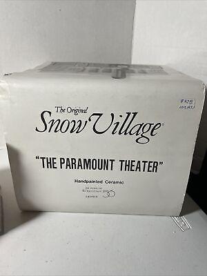 "Dept. 56 Snow Village ""The Paramount Theater""  #51420"
