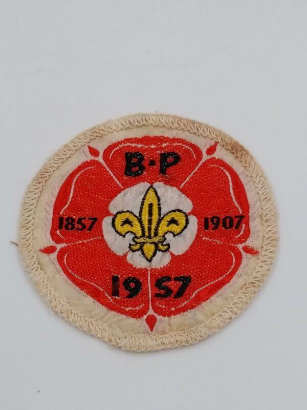 1957 WORLD BOY SCOUTS 9TH JAMBOREE BP BADGE PATCH ORIGINAL RARE