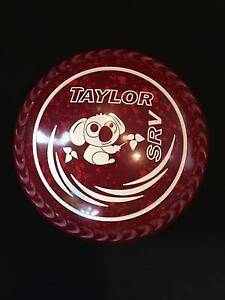 Thomas Taylor SRV Lawn Bowls Size 3H WB25 Red Speckled Gripped Surfers Paradise Gold Coast City Preview