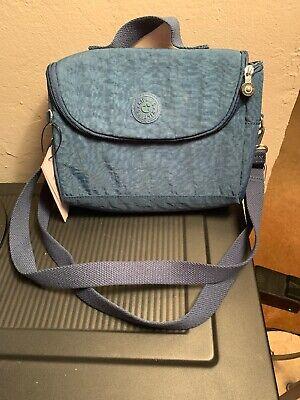 Kipling Insulated Lunch Bag Crossbody Strap Midnite Green No Charm Retail $48