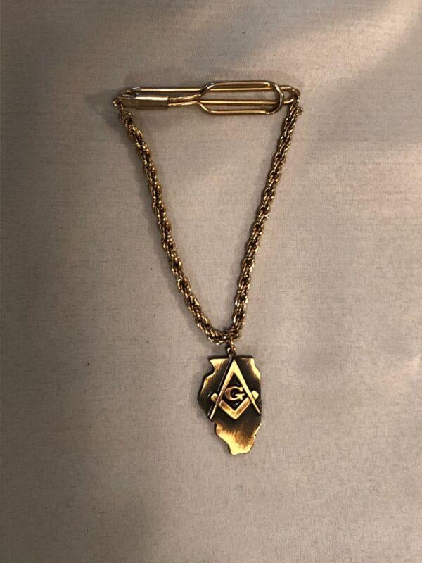 Vintage Scottish Rite Freemasonry Tie Chain