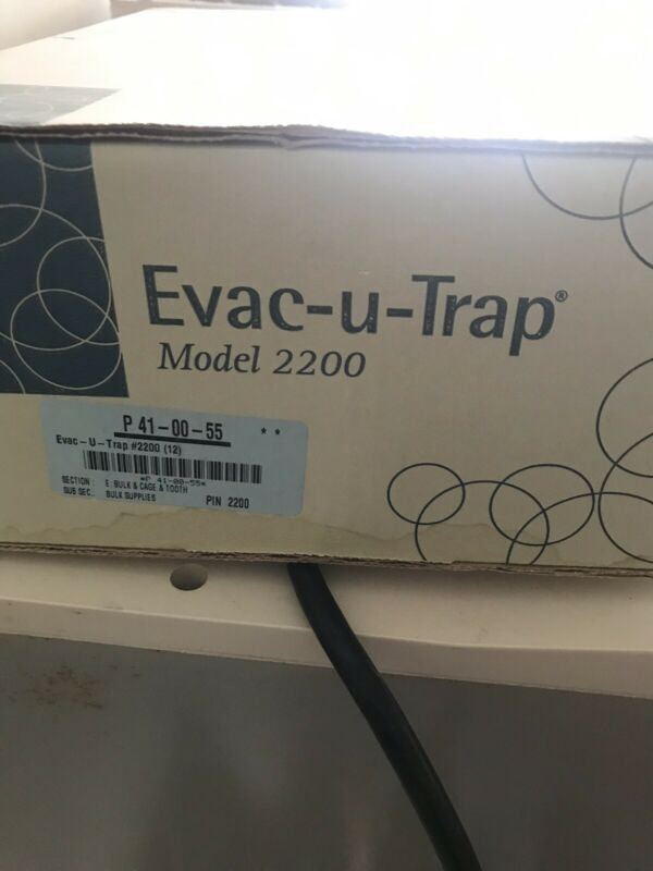 Evac-u-trap 2200 Dental Central Vacuum Canisters