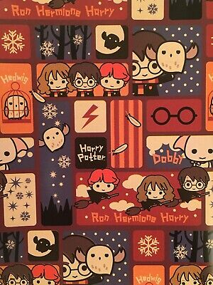 Harry Potter Holiday Wrapping Paper Gift Wrap 20 sq ft RARE Holiday Gift Wrap