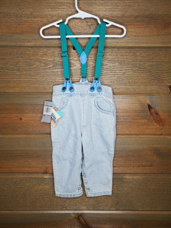 Levis Little Deadstock 1988 USA NOS Suspenders Kids 24 Months Vintage Jeans