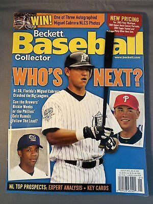 Beckett Baseball Card Monthly Magazine #226 Miguel Cabrera Cover Jan 2004