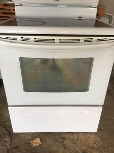 Glass top convection stove