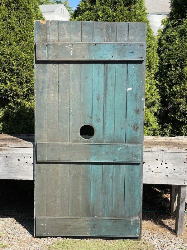 """Antique Barn Door w/ Center Hole ~ 71 7/8""""H x 36 1/8""""W ~ Maine Barn Salvage Find"""