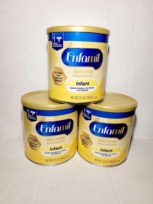 3 - ENFAMIL Infant Formula Powder Gentle Nutrition 0-12 months 12.5oz each