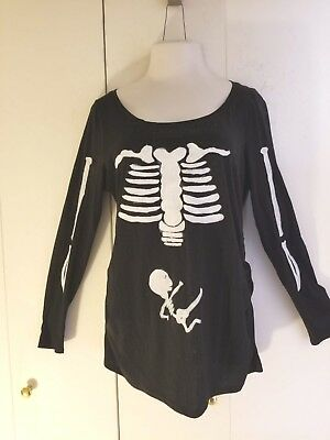 HANDMADE Halloween Costume Long Sleeve Shirt For Pregnant Pregnancy Maternity LG (Pregnant Costumes For Halloween)