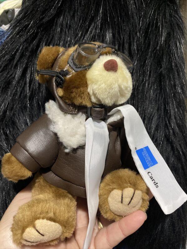 Aviator Pilot Plush Brown Bear American Express