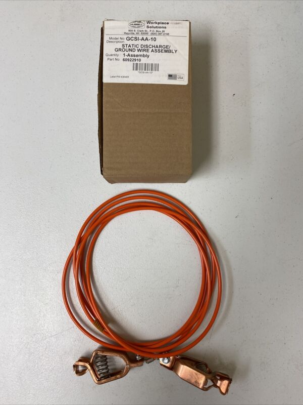 NEW HUBBELL 60922910 GCSI-AA-10 STATIC DISCHARGE GROUND WIRE ASSEMBLY