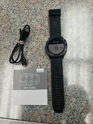 Garmin Fenix 6X Pro 51mm Case with Silicone Band GPS Running Watch - Titanium