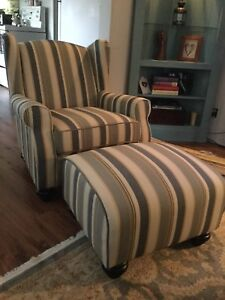 Chair and matching ottoman.  Brand new.   $250.