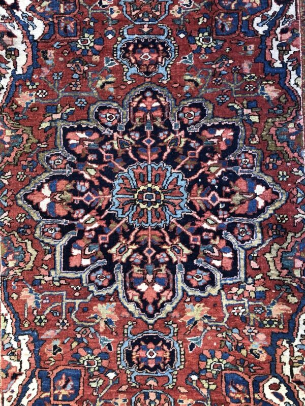 Terrific Tribal - 1920s Antique Oriental Rug - Nomadic Carpet - 4.8 X 6.3 Ft