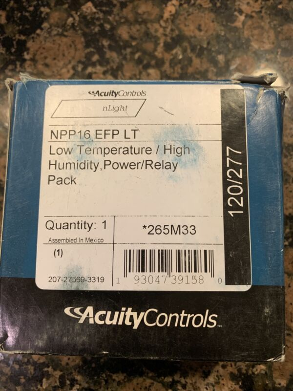 Acuity Controls NPP16 EFP LT Power Relay Pack Low Temperature High Humidity New