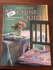 Quick & easy machine quilts book