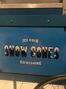 Snow cone refreshing machine
