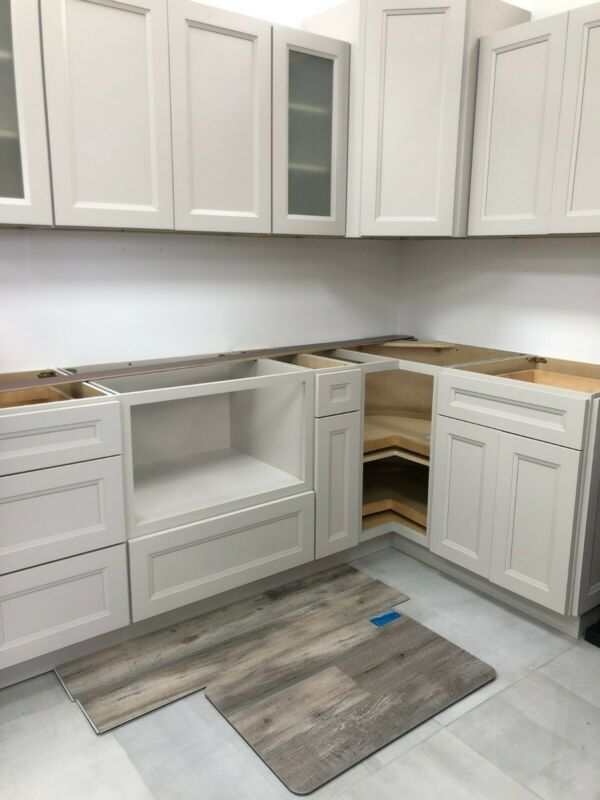 BRAND NEW 21st. GLACIER KITCHEN CABINETS, NEVER OPENED, GRAY STONE.