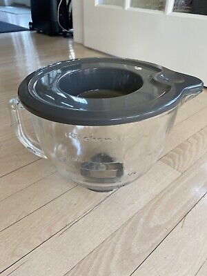 New! KitchenAid 5-Quart Glass Bowl With Lid Fits Tilt Artisan Models
