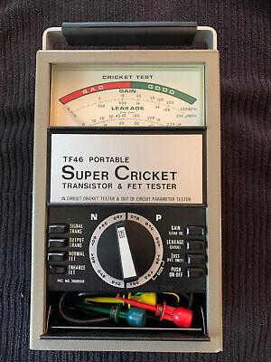Sencore Tf46 Portable Super Cricket Transistor Fet Tester - Very Nice