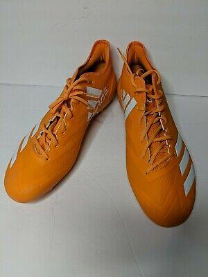 Adidas  Adizero 5-Star 6.0 NFL Football Cleat Orange/White Men's Sz 13.5 DA9510