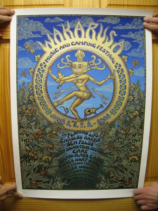 Wakarusa Flaming Lips The Emmylou Harris Ben Folds Five 5 Poster Silkscreen Emek