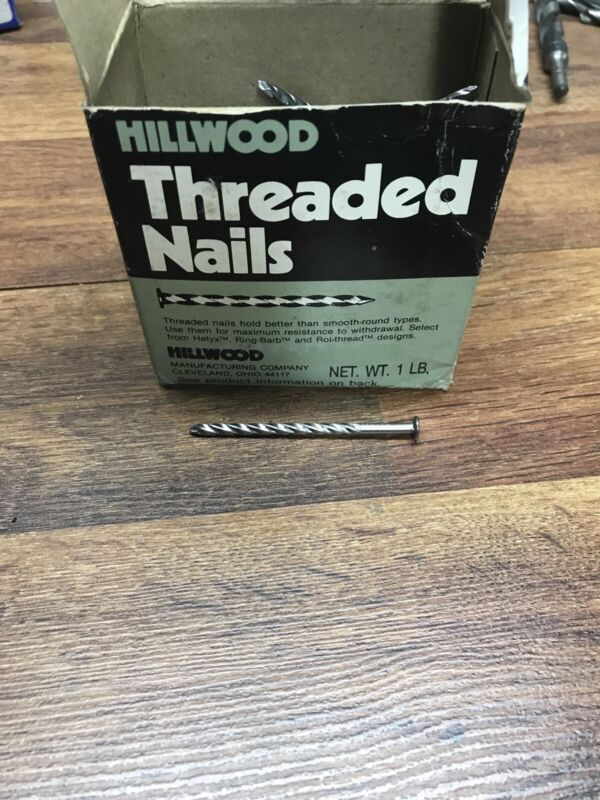 1 Pound ( 115 Each) Of Hillwood Roll-Threaded Nails, 2 1/2 Inches