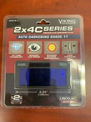 Lincoln Electric Kp3779-1 C-series 2x4 Auto-darkening Welding Lens - Shade 11