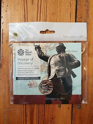 Captain Cook £2 Pound Coin 2020 Royal Mint  Brilliant Uncirculated Mint New
