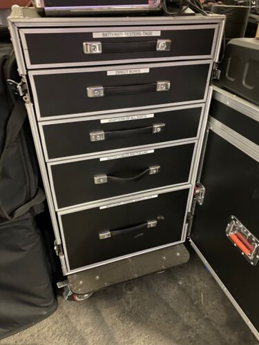 WORK BOX UTILITY ROAD CASE - MULTI DRAWER WITH TABLE - FREE SHIPPING