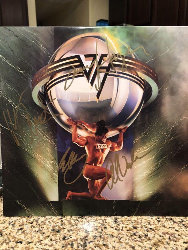 Van Halen 5150 LP Originally Autographed By Sammy Eddie Michael Alex
