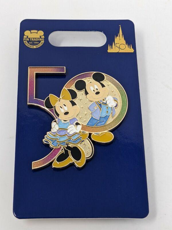 WDW 50th Anniversary Mickey And Minnie Walt Disney World Pin