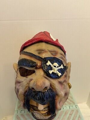 Scary Halloween Pirate Zombie Mask Rubber Latex Vinyl HAIRY SCARY