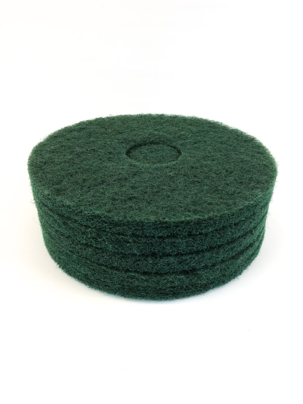 "Boardwalk Green Floor Scrubbing Pads 13"" Diameter BWK4013GRE (Box of 5)"