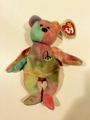 Ty Beanie Baby 'Peace' MWMT with 2 ST errors