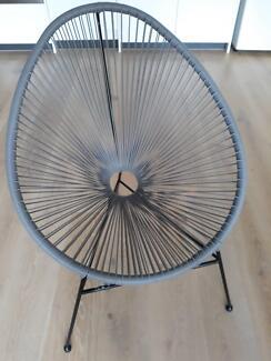 Grey indoor/outdoor wicker chair