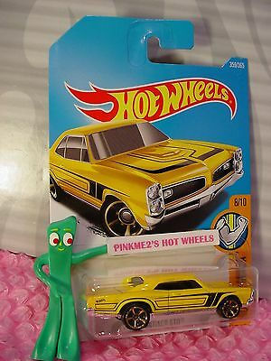 '67 PONTIAC GTO #359 WW✰yellow; orange mc5✰Muscle Mania✰2017 i Hot Wheels Q/A