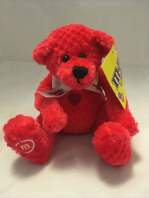 NEW M&M World Red July Birthday Bear Plush