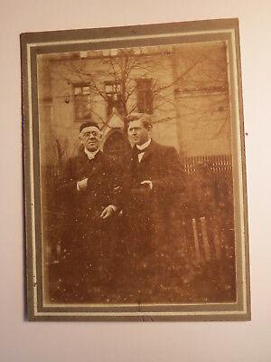 Großvater Rohnert und Otto Rohnert - Alter Mann & Mann mit Brille / Kleines KAB