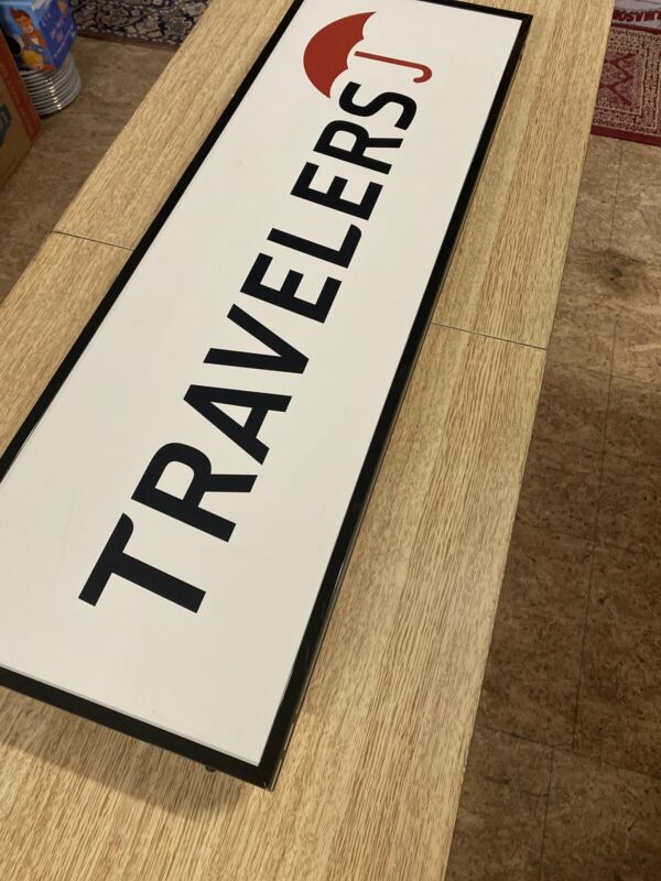 Light Up Travelers Insurance Sign